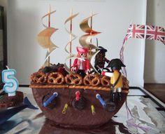 Pirate Birthday Cakes For Boys Pirate Birthday Cake, 1st Birthday Cakes, Pirate Party, Birthday Parties, Birthday Ideas, Pirate Ship Cakes, Pirate Treasure, Cakes For Boys, Birthdays