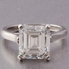 Tiffany & Co 4.55ct Emerald Cut Diamond Engagement Ring   (Found here: http://www.doverjewelry.com/catalog/engagement_rings/tiffany_n_co_455ct_emerald_cut_diamond_engagement_ring.html) $146,000.00