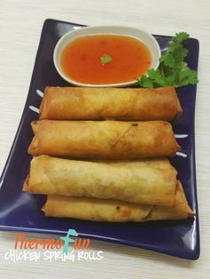 Quick, simple and definitely a crowd pleaser these Thermomix Chicken Spring Rolls are the only recipe you will need to get your fix of the classic Spring Ro Appetizer Dishes, Appetizer Recipes, Snack Recipes, Cooking Recipes, Quiche Recipes, Appetizers, Snacks, Cooking Chinese Food, Asian Cooking