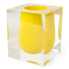 Jonathan Adler Yellow Bel Air Scoop Vase in Vases