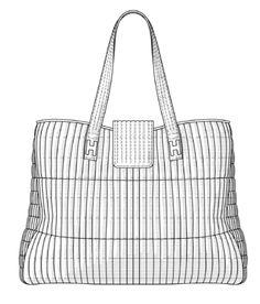 Patent USD675430 - Handbag - Google Patents Karl Lagerfeld for Hogan by Tod's