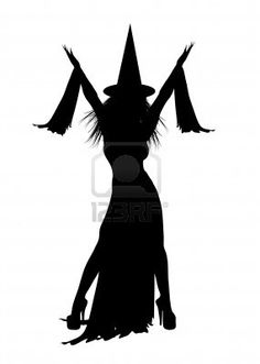 Picture of silhouette of Halloween witch on white background stock photo, images and stock photography. Halloween Canvas, Halloween Painting, Holidays Halloween, Halloween Crafts, Halloween Decorations, Halloween Witches, Happy Halloween, Witch Silhouette, Silhouette Design