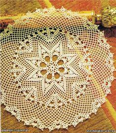 Кругла серветка з зірковим центром гачок