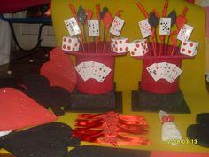 Centro mesa tema casino