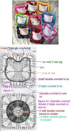 Hello Kitty granny square