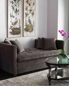 """Shop """"Pewter"""" Settee at Horchow, where you'll find new lower shipping on hundreds of home furnishings and gifts. Sofa Furniture, Settee Furniture, Furniture, Settee, Home Furniture, Elegant Living Room, Room, Living Room Furniture, Home Furnishings"""