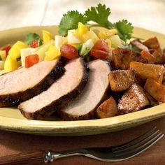Caribbean Pork with Sweet Potatoes