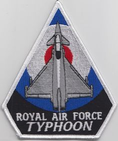Royal Air Force RAF Typhoon Roundel  Embroidered Patch