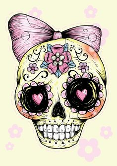 Sugar skull - This would be an awesome tattoo