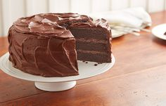 View this delicious and easy Holiday inspired HERSHEY'S PERFECTLY CHOCOLATE Chocolate Cakefrom Celebrate with Hershey's.