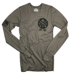 Men's Live Free Thermal Long Sleeve Shirt (Desert)