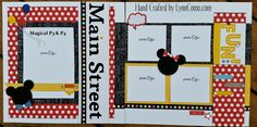 Pages 3&4 for Magical are the perfect Disney layout. Or, you can turn the polka dot paper over to the diagonal pattern and use for graduation, birthday, retirement and more. Very versatile papers ... click on the my LINK for more details.