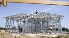 steel construction, steel structure was built on center of lake - Light steel frame construction - Steel Frame Construction, Steel Buildings, Steel Structure, Villa, Island, Lighting, Outdoor Decor, Garage, House