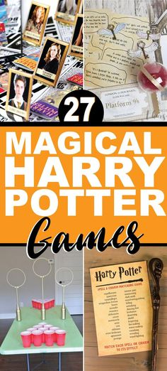 Awesome Harry Potter games for your next Harry Potter party! Activities for kids, for teens, and even for adults that you can DIY or just print and play. Everything from minute to win it games to board games and even printable quizzes! Perfect for Harry Potter fans!