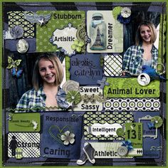 Layout by Wendy Tunison Designs using She Wore Blue Jeans