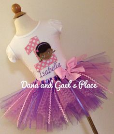 Hey, I found this really awesome Etsy listing at https://www.etsy.com/listing/153987099/cute-birthday-doc-mcstuffins-tutu-an