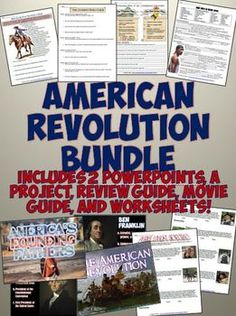 This brand new American Revolution Resource Bundle includes PowerPoints, lesson plans, CCSS readings, worksheets, and more to cover a whole unit for US History! Save time and money by getting the whole bundle!