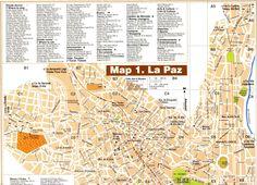 Mapa turistico de La Paz, Bolivia