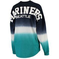 f7944b319 Seattle Mariners Women s Oversized Long Sleeve Ombre Spirit Jersey T-Shirt  - Navy