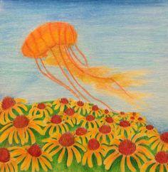 Daisies and jellyfish