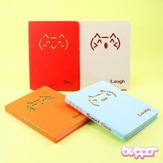 Emoticon Neko notebook
