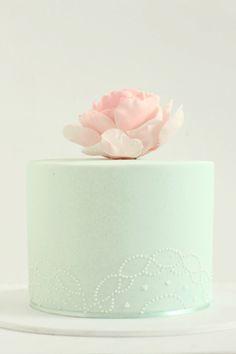 #WeddingCake Menta e Rosa Cipria