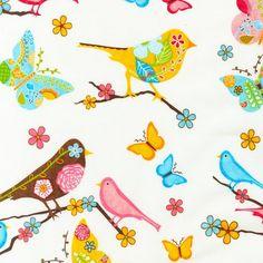 birds + butterflies crib sheet