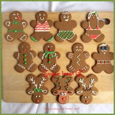 Funny Gingerbread Man and reindeer cookies More