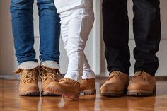 Happy family having same shoes. by Mosuno