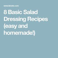 8 Basic Salad Dressing Recipes (easy and homemade!)
