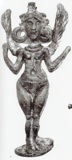 Hettite, metal figures, Goddess Iştar, Karahöyük (Kurt Bittel) (Erdinç Bakla archive)