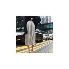 Pleated Midi Skirt (2.055 RUB) ❤ liked on Polyvore featuring skirts, women, calf length skirts, knee length pleated skirt, pleated skirt, pink midi skirt and mid calf skirts