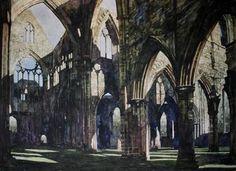 "Saatchi Online Artist Paul Dmoch; Painting, ""Tintern Abbey "" #art"