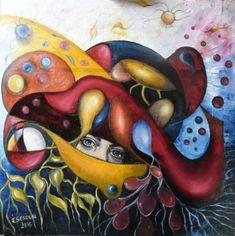Original Fantasy Painting by Ildiko Decsei Csegoldi Original Paintings, Original Art, Fantasy Male, Fantasy Paintings, Abstract Art, Abstract Expressionism, Wood Art, Mythology, Buy Art