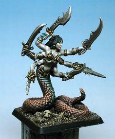 Reaper Miniatures. Looks like Marilith