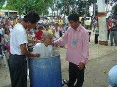 Philippines prison baptism