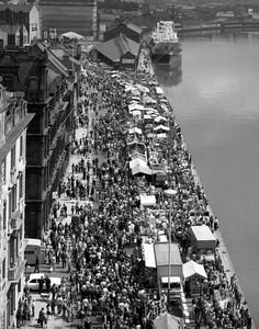 Newcastle Quayside on a Sunday Morning as it used to be