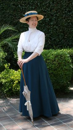 "This outfit screams ""Amelia"" to me! Reproduction: Walking Skirt from Folkwear #209, ""Walking Skirt,"" via Historical Alterations. Cute shape. Simple too."