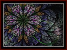 Cross Stitch Collectibles - Detail1 - FR-545 - Fractal 545 - All cross stitch patterns - Abstract - Fractals - Graphic Art - Cross Stitch Collectibles