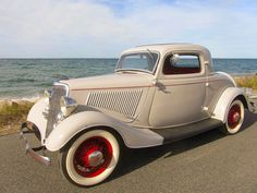 1934 Ford 3 Window Coupe...many of the cars were chopped up to make hot rods in the 50's and 60'. Amazing that this one survived in one piece.....