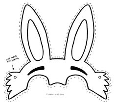 Easter bunny mask template