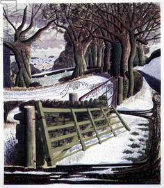"""Winter Solstice"" by Simon Palmer (wood engraving)"