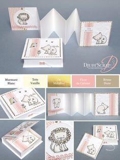 mini scrapbook albums tutorials how to make Mini Album Scrap, Baby Mini Album, Mini Albums Scrapbook, Cupcake Card, Mini Album Tutorial, Album Book, Card Maker, Mini Books, Baby Cards