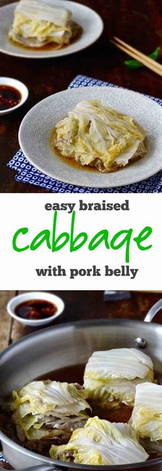 This super easy Japanese braised cabbage with pork belly is a one pot wonder. With just a handful of ingredients and a thirty minute stove top braise you'll have a deliciously light & nourishing meal on the table | Plus Ate Six