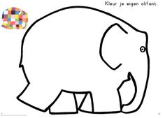 Elmer Elephant Coloring Page L - Duilawyerlosangeles Zoo Activities, Toddler Learning Activities, Endangered Animals Lessons, Elephant Template, Elmer The Elephants, Umbrella Cards, Elephant Coloring Page, Preschool Colors, Elephant Art
