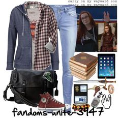 Charlie Bradbury by fandoms-unite-3947 on Polyvore featuring maurices, ONLY, Frye, Crate and Barrel, Old Navy, Ceramiche Pugi and F