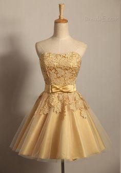 ファッションの甘いレースのストラップレスのジッパーアップショートカクテルドレス 10937642 - ホームカミングドレス - Dresswe.Com