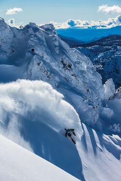 Snow Ski   Downhill skiing on a beautiful day