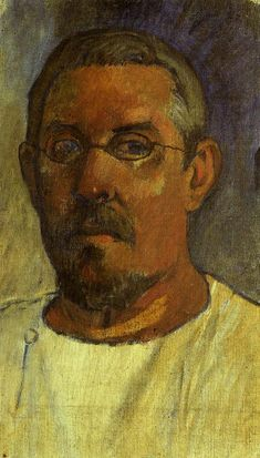 Self portrait with spectacles by @paul_gauguin #postimpressionism