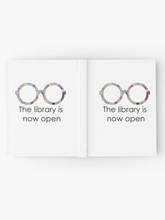 """""""The library is now open"""" Hardcover Journal by caro17002 